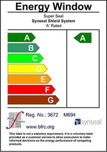 A Rated energy efficient windows